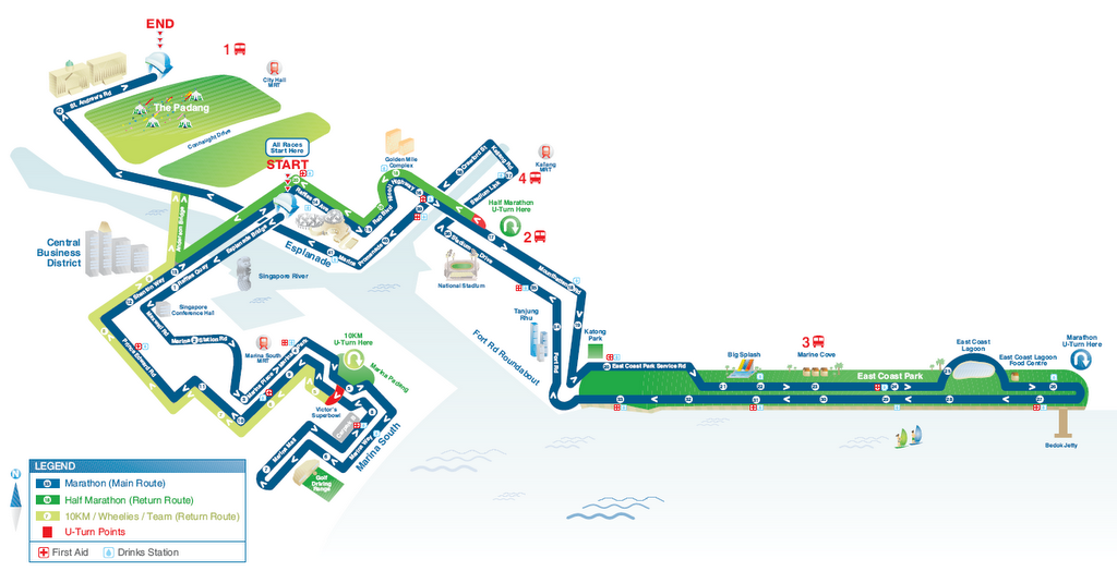 Standard Chartered Singapore Maraton 2005 Race Route Map